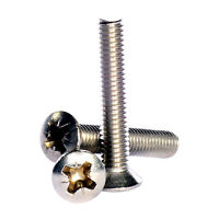 M5 ( 5mm ) A2 Stainless Steel Pozi Raised Countersunk Machine Screws DIN 966