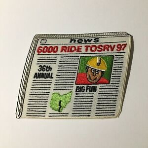 Tour Of The Scioto River Valley TOSRV Collectible Iron On Patch OH Vintage 1997