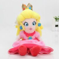 Super Mario Bros Mario Princess Peach Stuffed Plush Doll Toy 8'' Birthday Gift