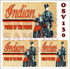 WEATHERED WATERSLIDE BUILDING SIGN DECALS INDIAN MOTORCYCLE O SCALE OSV130