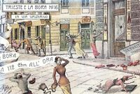 Cartolina Trieste e la Bora N.16 in Via Valdirivo ( riproduzione)