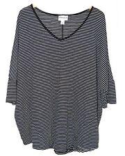 NWT 3X 24W 26W Ava Viv Women's Plus Size V-Neck Dolman Shirt