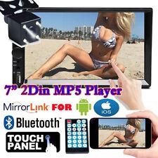 7' Hd 2Din Bluetooth Touch Screen Car Stereo Radio Mp5 Mp3 Usb/Aux/Tf/Fm+Camera