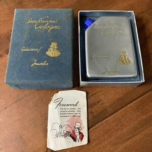 Bean Brummell Cologne, Galanterie, The Traveler Flask, Blue Box, Insert, 3 Fl Oz