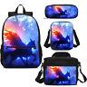 Flying Unicorn Combo Students Backpack Lunchbox  Crossbody Bag Pen Case Kids Lot