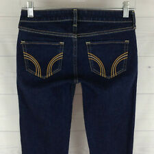 Hollister Cal embellished womens size 0, 24 in. blue dark wash skinny zip jeans