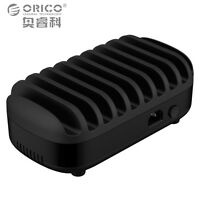 ORICO 10 Ports USB Charging Station Dock with Holder 120W 5V2.4A*10 USB Charger
