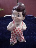 "Vintage 1973 Big Boy Restaurants of America 9"" Plastic Big Boy Bank"