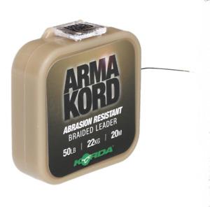 Korda Arma Kord 30lb Shockleader Braided Snag Leader - ARMK30 Carp Fishing NEW