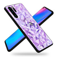 Diamond Glass Back Cover Phone Case Fit HUAWEI 8X 10 P20 P30 Mate 20 30 Pro Lite