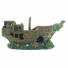 Shipwreck Sunken Boat Fish Tank Aquarium Decoration Ornament - MS900