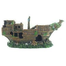 Shipwreck Sunken Boat Fish Tank Aquarium Decoration Ornament - MS900