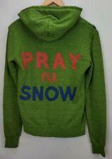 Aviator Nation Hoodie Sweatshirt Size XS Unisex Green Zip Stripes Pray For Snow