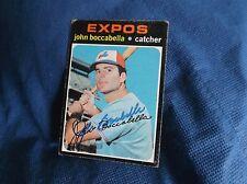 John Boccabella Montreal Expos 1971 Topps Autographed Baseball Card