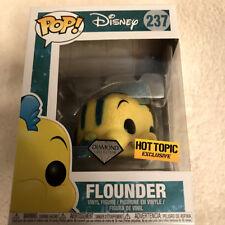 Funko Pop Disney Diamond Edition Flounder #237 Little Mermaid Hot Topic Excl