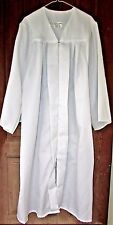 "JOSTENS White Graduation Choir Robe Wizard Costume Gown 5'07"" to 5'09"" EXCELLENT"