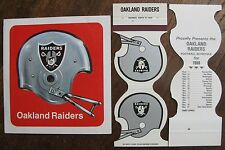Oakland Raiders 1970's Fasson Sticker & two 1980 Match Cover Schedules