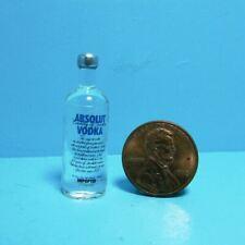 Dollhouse Miniature Bottle of Absolut Vodka - 1:12 Scale