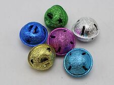 20 Stardust Ball JINGLE BELLS 20mm Mixed Colors~Charms Wedding Party Craft