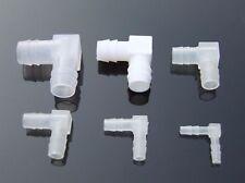 4mm 6mm 8mm 10mm L Equal Ends Pipe Elbow Joint Hose Barb Hard Plastic Aquarium