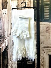 Brand new Cream Acrylic scarf and gloves set gloves size S R390