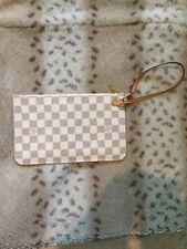 Louis Vuitton Damier Azur Wristlet Pouch Pouchette Excellent Condition