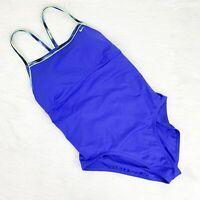 Nike Women's XL Blue Cutout Back Bathing Suit One Piece Swim Suit Swimwear
