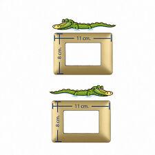 Adesivi interruttori luce coccodrilli light switch stickers crocodriles 2 pz.