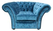 MODERN HANDMADE CHESTERFIELD SNUGGLE LOVE SEAT CHAIR PEACOCK VELVET - MADE IN UK