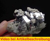 7343 Galena Quartz Dolomite ca 6*10*6 cm S. Petrovitza Mine Bulgaria 2016 MOVIE