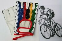 Cycling Gloves Real Leather Crochet Back Half Finger Vintage Style Sports Glo
