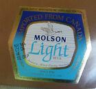 VINTAGE CANADIAN BEER LABEL - MOLSON BREWERY, IMPORTED LIGHT BEER 12 FL OZ #3
