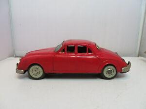 Vintage Bandai Tin Rear Friction Jaguar 3.4 Toy Car Japan