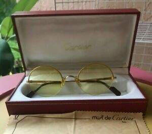CARTIER AUTHENTIC GOLD PLATED FRAME,VINTAGE EYEGLASSES BRAND NEW- CARTIER CASE