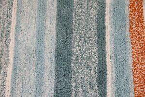 "SKL Home Falling Leaves Autumn 30"" x 20"" Bath Rug Orange Blue & White Striped"