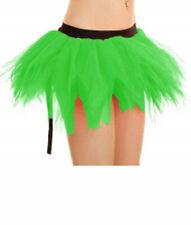Mujeres 6 Capa Falda Tutú con cola de pétalos de verde desgaste de la Danza Gallina Fiesta De Disfraces