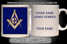 PERSONALISED FREEMASONS MASONIC LODGE MUG GIFT