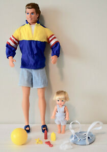 BIG BROTHER KEN & BABY BROTHER TOMMY #17055 * 1996 BARBIE