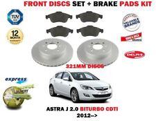 für Opel Astra J 2.0 CDTI BiTurbo 2012> Vorderbremse Scheibensatz + Bremsbelag