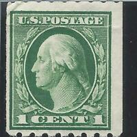ORLEY STAMPS US Stamps, Scott #410  8 1/2 perf SINGLE 1912 F.VF MNH.