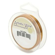 Artistic Wire Natural Copper 26 gauge 30 yards 41118 Round Shiny