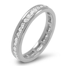 3.75mm  G/SI 0.50 ct Round Diamonds Full Eternity Wedding Ring in 9k White Gold