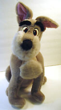 Vintage Disney Parks Lady and the Tramp Plush Stuffed Toy XL 16 Inch Grey Dog