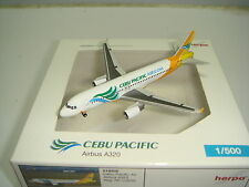 """Herpa Wings 500 Cebu Pacific A320-200 """"2000s color"""" Ngv 1:500"""