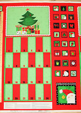 """Happy Holly Days Advent Calender Christmas Fabric Panel 24""""   #68047"""