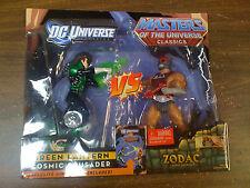 DC Green Lantern Caped Crusader VS MOTU Zodac Cosmic Enforcer NEW FREE SHIP US