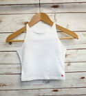 White Crop Top - Official American Apparel - Ladies Cropped Vest Top - Tank Top