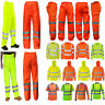 Hi Viz Vis High Visibility Hoodie Reflective Work Zip Fleece Sweatshirt Trousers
