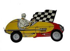 MIDGET RACE CAR HEAVY METAL SIGN