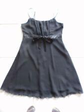festliches Kleid schwarz 40 Cocktailkleid Party Konfirmation knielang ärmellos